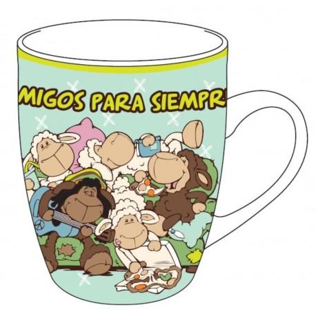 Taza Porcelana Amigos para siempre!