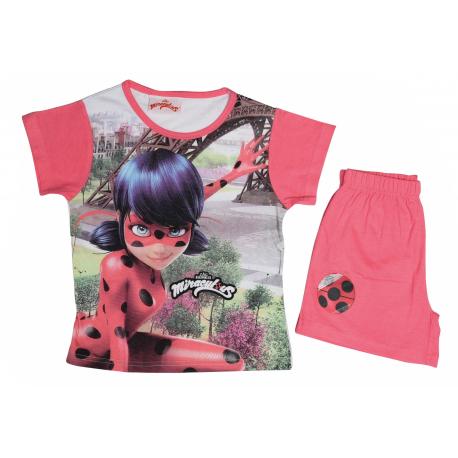 Ladybug Pijama Corto Verano Rosa T-3