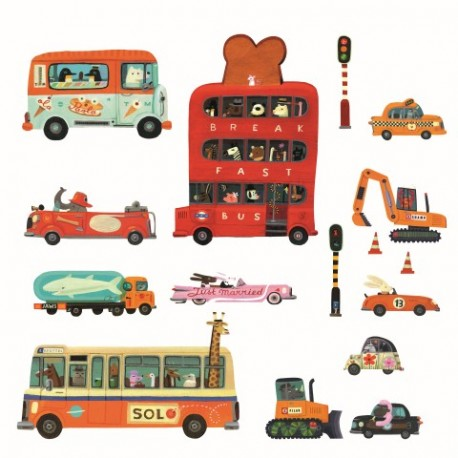 Djeco Stickers Vehìculos Pegatinas