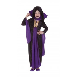 Disfraz Niña Vampiresa Gotica Lila T-M