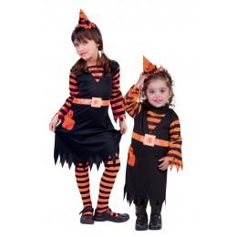 Disfraz Niña Witchy Patch Naranja T-M
