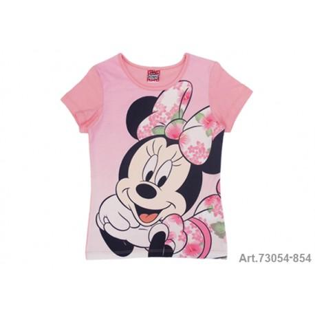 Minnie Mouse Camiseta  M/C Rosa T-8 Años