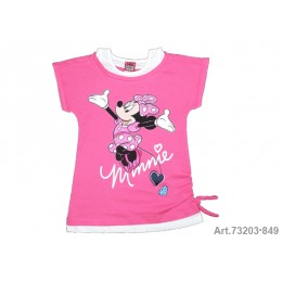 Minnie Mouse Camiseta M/C Rosa/Blco T-6