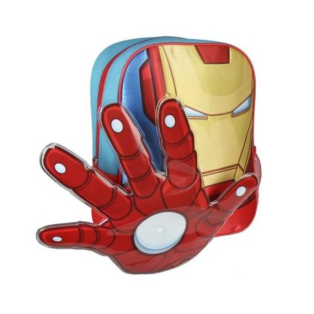 Iron Man Mochila Guarderia en Relieve