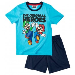 Mario Bross Pijama Azul Talla 10 años