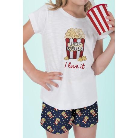 Pijama Verano Palomitas T-8