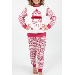 Pijama Juvenil Chica Afelpado con pompon
