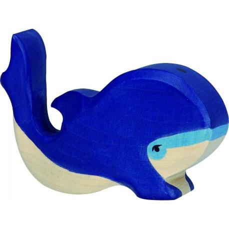 Ballena Azul de Madera 10 Cm.
