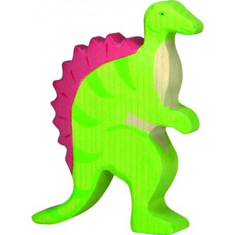 Dinosaurio Spinosaurio de Madera 12,5 Cm