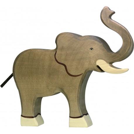 Elefante de Madera 18 Cm.