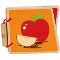 Libro Frutas de Madera para Bebé