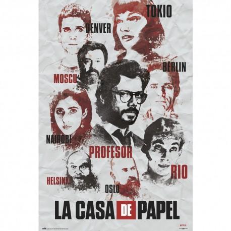 La Casa de Papel Poster Personajes