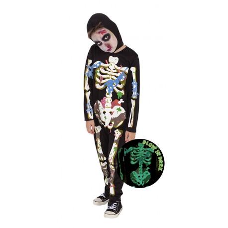 Disfraz Infantil Zombies Esqueleto T-L