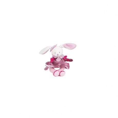Doudou Conejita Rosa con Portachupete