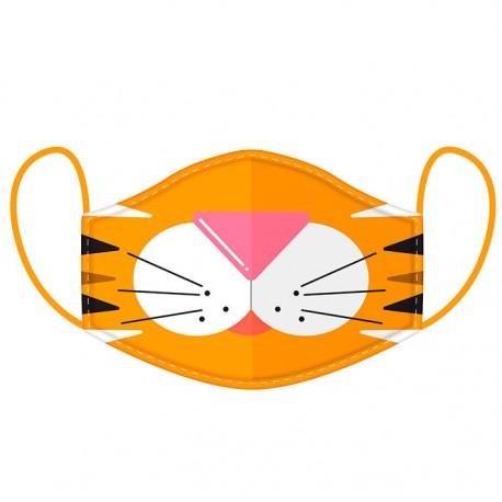 Mascarilla Adulto Reutilizable tigre