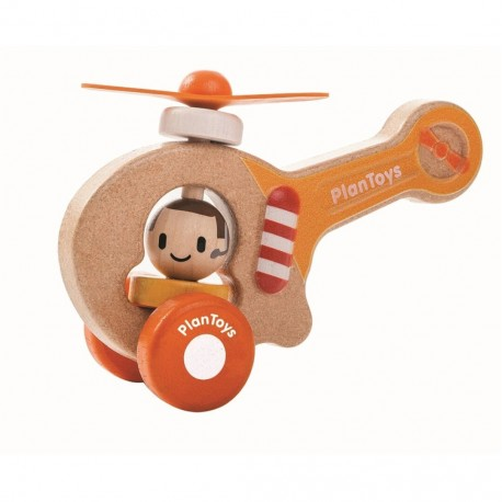 Helicóptero infantil juguete de madera