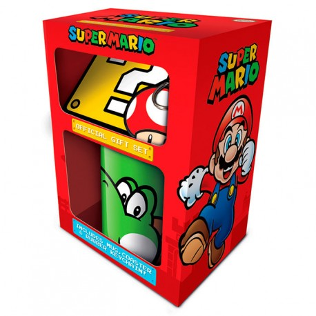 Super Mario Nintendo Taza y Llavero