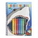 Dino World Libro de colorear Tiburón
