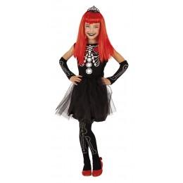 Disfraz infantil halloween skelita T-S