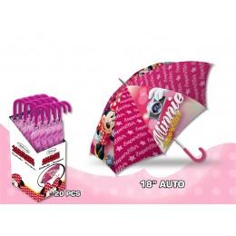 "Minnie Mouse Paraguas Automático18"""