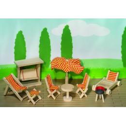 Muebles Muñecas para el Jardín Madera