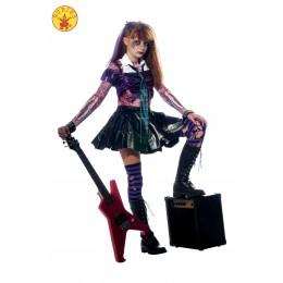 Disfraz Infantil Rockera Zombie T-M